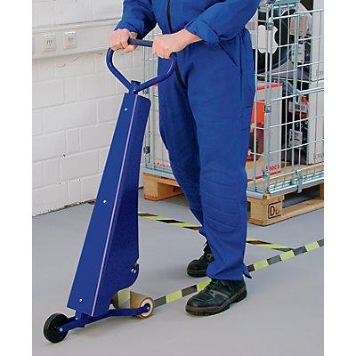Système de marquage par bande de sol - appareil de pose - avec lame