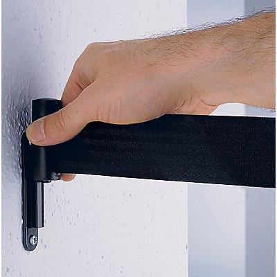 Wandclip - für Gurtpfosten / Wandkassette, zum Einhängen des Gewebebandes
