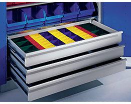 Schubladeneinteilungs-Set - Kunststoffkästen - für Schranktiefe 500 / 600 mm