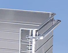 ZARGES Alu-Kastenwagen - Inhalt 945 l, mit 250 mm tiefem Seitenwandausschnitt