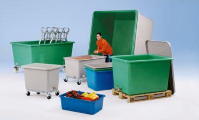 Großbehälter aus GfK - Inhalt 300 l, LxBxH 1170 x 690 x 520 mm