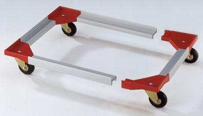 Fahrgestell, Kunststoffecken mit steckbaren Aluprofilen - 1210 x 810 mm