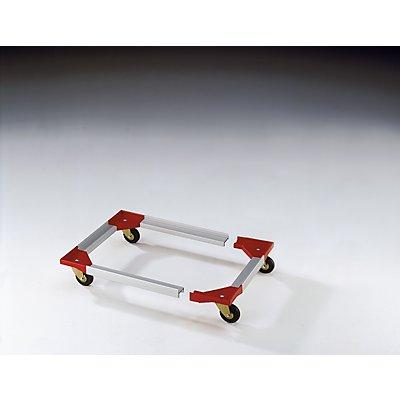 Fahrgestell, Kunststoffecken mit steckbaren Aluprofilen - 810 x 610 mm