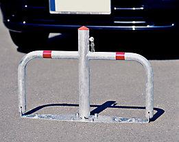 Parkbügel aus Stahl, umklappbar - Zylinderschloss gleichschließend