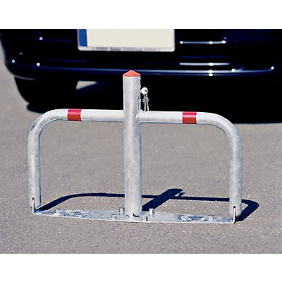 Barrière de parking en acier, rabattable - serrures à cylindre identiques