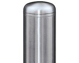 Edelstahl-Sperrpfosten - mit Abschlusskappe