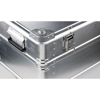 ZARGES Alu-Transportkiste, Inhalt 396 l, Innen-LxBxH 1550 x 550 x 465 mm in robuster Ausführung