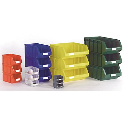 VIPA Sichtlagerkasten aus Polyethylen - LxBxH 237 x 144 x 123 mm
