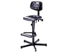 Arbeitsdrehstuhl mit PU-Schaum - mit Fußstütze