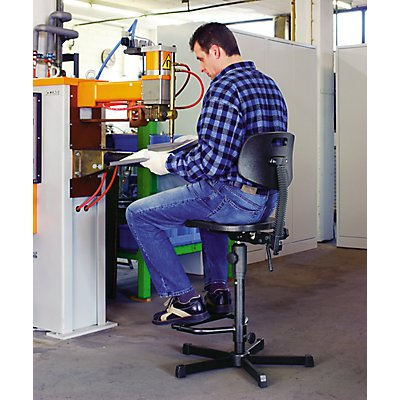 Arbeitsdrehstuhl mit PU-Schaum - ohne Fußstütze