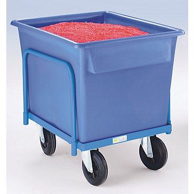 EUROKRAFT Kastenwagen für Kunststoffwanne - Tragfähigkeit 250 kg - für 370-l-Wanne