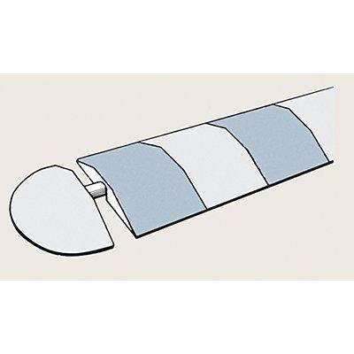 Abschlusselement, Gummimischung - Breite 210 mm - gelb