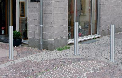 Edelstahl-Sperrpfosten - mit Flachkopf