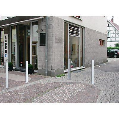 URBANUS Edelstahl-Sperrpfosten - mit Abschlusskappe