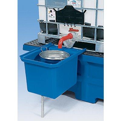 Asecos Vorsatzbehälter - für Auffangwanne - Innenmaße BxTxH 330 x 440 x 420 mm