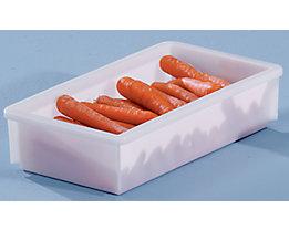 Bac gerbable en plastique - capacité 8 l, dim. ext. L x l x h 450 x 255 x 105 mm
