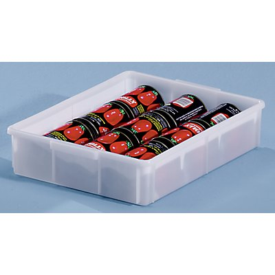 mauser Kunststoff-Stapelbehälter - Inhalt 9,4 l, Außenmaße LxBxH 428 x 307 x 88 mm