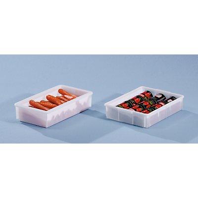 Bac gerbable en plastique - capacité 9,4 l, dim. ext. L x l x h 428 x 307 x 88 mm