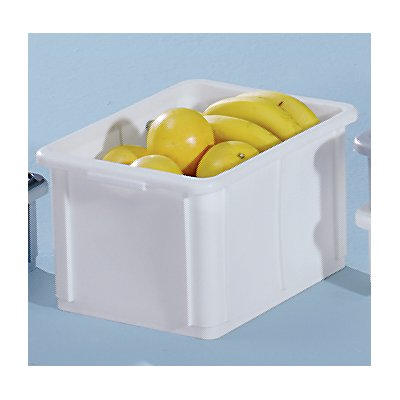 utz Stapelbehälter aus Polypropylen - Inhalt 20 l, Außenmaße LxBxH 400 x 300 x 232 mm