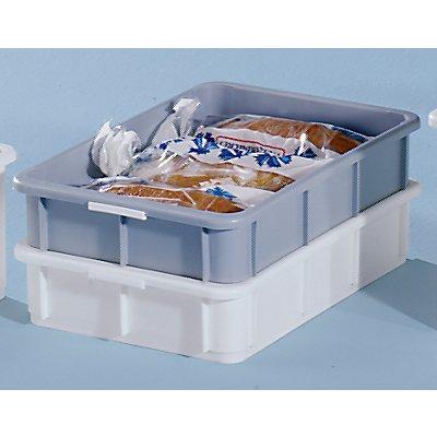 utz Stapelbehälter aus Polypropylen - Inhalt 20 l, Außenmaße LxBxH 600 x 400 x 125 mm