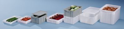 Kunststoff-Stapelbehälter - Inhalt 35 l, Außenmaße LxBxH 600 x 355 x 210 mm