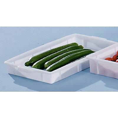 VECTURA Kunststoff-Stapelbehälter - Inhalt 9 l, Außenmaße LxBxH 560 x 355 x 64 mm