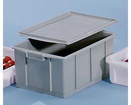 Bac gerbable en plastique - capacité 23 l, dim. ext. L x l x h 460 x 330 x 202 mm