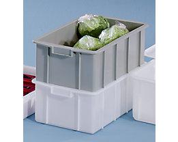 Bac gerbable en plastique - capacité 35 l, dim. ext. L x l x h 600 x 355 x 210 mm