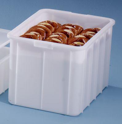 Kunststoff-Stapelbehälter - Inhalt 96 l, Außenmaße LxBxH 668 x 452 x 412 mm