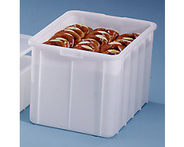 Bac gerbable en plastique - capacité 96 l, dim. ext. L x l x h 668 x 452 x 412 mm