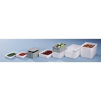 Kunststoff-Stapelbehälter - Inhalt 25 l, Außenmaße LxBxH 475 x 340 x 220 mm