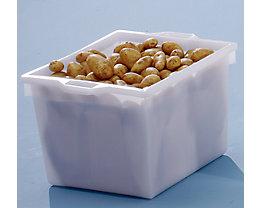 Bac gerbable en polyéthylène, construction conique - capacité 60 l