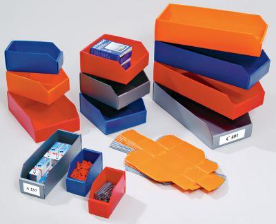 Kunststoff-Regalkasten, faltbar - LxBxH 300 x 200 x 100 mm