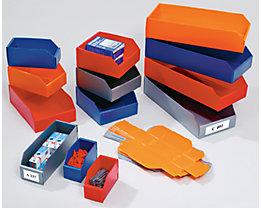 Kunststoff-Regalkasten, faltbar - LxBxH 300 x 150 x 100 mm - blau, VE 25 Stk