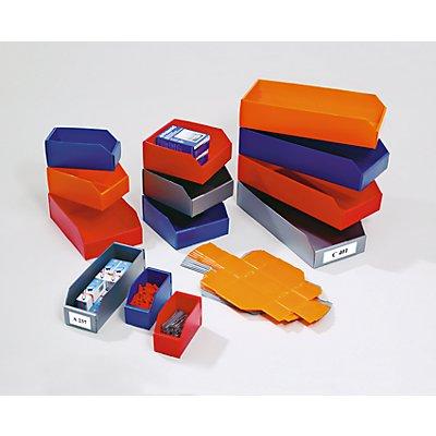 Bac de stockage pliant en plastique - L x l x h 225x200x100 mm