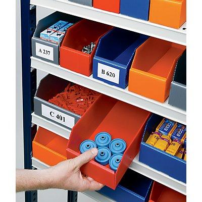 Bac de stockage pliant en plastique - L x l x h 150 x 75 x 100 mm