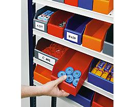 kbins Etiketten - für faltbaren Regalkasten, Höhe 41 mm - Breite 66 mm, VE 100 Stk