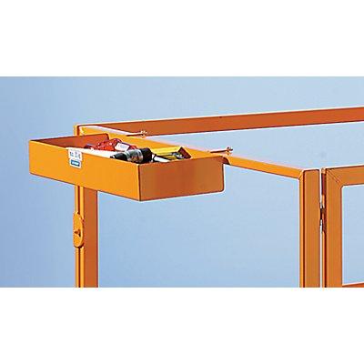Werkzeugablage - gelborange RAL 2000 - 600 x 200 x 80 mm