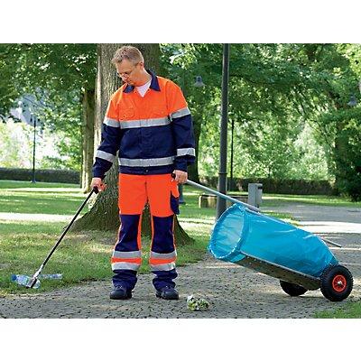 Müll-Caddy für 120-l-Sack - Gesamthöhe 1500 mm - 2 Leichtlaufräder, luftbefüllt