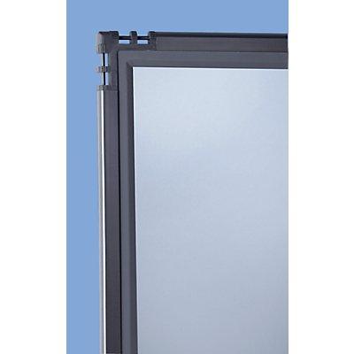 Acrylglas-Raumteiler - rauchfarben