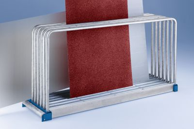 EUROKRAFT Tafelregal, verzinkt - LxBxH 2030 x 800 x 1000 mm, 9 Fächer, Fachlast 1000 kg