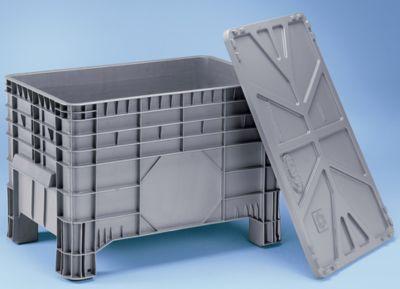Großbehälter aus Polyethylen - Inhalt 285 l, 4 Füße zum Unterfahren