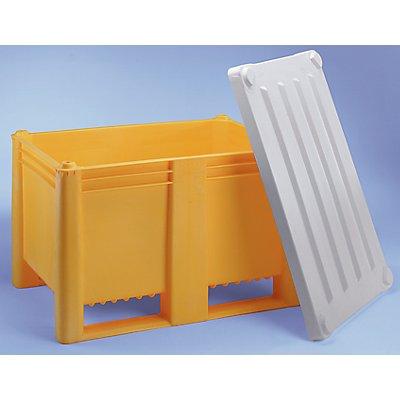 Großbehälter aus Polyethylen - Inhalt 500 l, 2 Kunststoffkufen