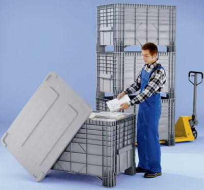 Großbehälter aus Polyethylen - Inhalt 550 l, 4 Füße zum Unterfahren