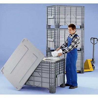 Capp Plast Großbehälter aus Polyethylen - Inhalt 550 l, 4 Füße zum Unterfahren
