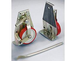 Hubroller - mit Stahlrädern, Lieferumfang 2 Roller, 1 Hubstange