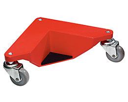 Transportrolly im handlichen Kunststoffkoffer - aus Aluminium, für Lasten ohne Beine