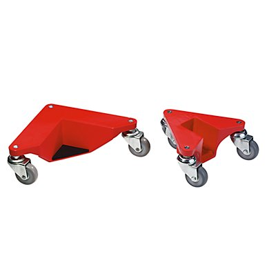 Transportrolly im handlichen Kunststoffkoffer - aus Aluminium, für Lasten mit Beinen, VE 4 Stk