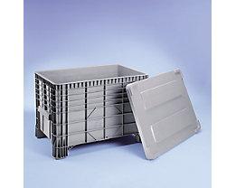 Deckel aus Polyethylen - für LxB 1030 x 600 mm - grau