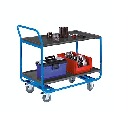 EUROKRAFT Tischwagen, Tragfähigkeit 150 kg - 2 Etagen, MDF-Platte, LxB 1000 x 570 mm